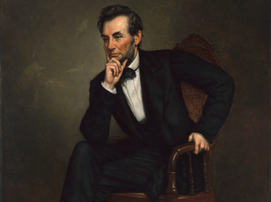 painting of President Abraham Lincoln